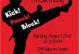 Karate Kid Birthday Invitations Karate Printable Birthday Party Invitation by Candlesandfavors