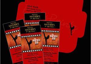 Karate Kid Birthday Invitations Unavailable Listing On Etsy