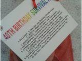 Keepsake 40th Birthday Gifts for Him 40th Birthday Survival Kit Fun Unusual Novelty Present