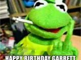 Kermit Birthday Memes Happy Birthday Garrett Kermit Finger Meme Generator