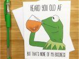 Kermit the Frog Birthday Meme Funny Birthday Card Kermit the Frog Kermit by Yeaohgreetings