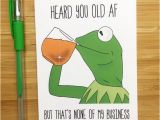 Kermit the Frog Birthday Meme Funny Frog 39 None Of My Business 39 Birthday Card Internet