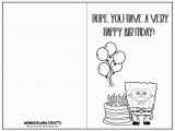 Kids Birthday Cards to Print 7 Best Images Of Printable Folding Birthday Cards for Kids