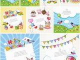 Kids Birthday Cards to Print Kids Vector Graphics Blog