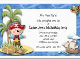 Kids Birthday Party Invitation Wording Ideas Boy Pirate island Party Invitations Pirate Birthday