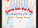 Kids Birthday Party Invitations Online 50 Printable Birthday Invitation Templates Sample Templates