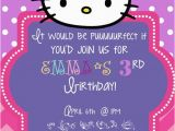 Kitten Birthday Party Invitations Hello Kitty Birthday Invitation by thelaughingladybug On