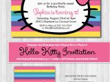 Kitten Birthday Party Invitations Hello Kitty Printable Invitation Rainbow Wonderbash