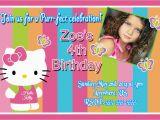 Kitten Birthday Party Invitations Hello Kitty Rainbow Birthday Invitations