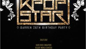 Kpop Birthday Invitations Party Like A Kpop Star Birthday Party with Bbfs Darren