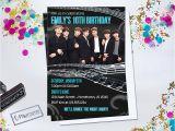 Kpop Birthday Invitations Personalized Printable Invitations Cmartistry Bts K