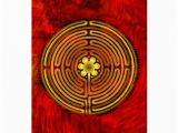 Labyrinth Birthday Card Chartres Labyrinth Fire Greeting Card Zazzle