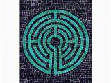Labyrinth Birthday Card Labyrinth Mosaic Iii Greeting Card Zazzle