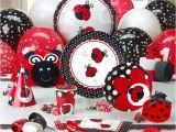 Ladybug 1st Birthday Decorations Best 25 Ladybug Party Supplies Ideas On Pinterest