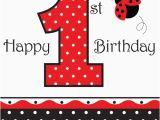 Ladybug 1st Birthday Decorations Ladybug Fancy 1st Birthday Lunch Napkins