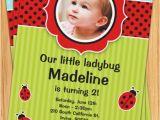 Ladybug Birthday Invites Ladybug Birthday Party Invitation Kids Red and Black