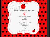Ladybug Birthday Invites Ladybug Invitation Template Invitation Template