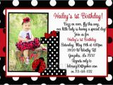 Ladybug Birthday Invites Ladybug Photo Birthday Invitation
