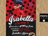 Ladybug Birthday Invites Miraculous Ladybug Invitation Digital Printable Invite