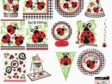 Ladybug Decorations for 1st Birthday Party Ladybug 1st Birthday Party Tableware Supplies Decorations