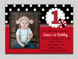 Ladybug Invites Birthday Ladybug Birthday Invitation Ladybug 1st Birthday Party Red