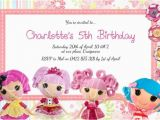 Lalaloopsy Birthday Card Childrens Birthday Invitations Lalaloopsy Birthday
