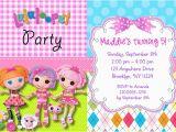 Lalaloopsy Birthday Card Lalaloopsy Birthday Party Invitations Lalaloopsy Kids