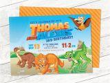 Land before Time Birthday Invitations Land before Time Dinosaur Invitation Twin Birthday Boy