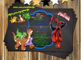 Land before Time Birthday Invitations Spider Man the Land before Time Birthday by Myprintableparty
