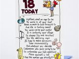 Large 18th Birthday Cards for son 18th Birthday Card Humprous 18 today Only 89p