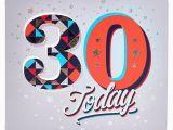 Large 30th Birthday Card 30th Birthday Card Big 30 Silver Stars Card Factory