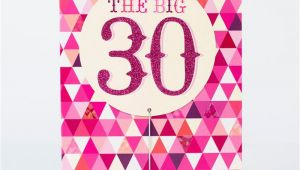Large 30th Birthday Card 30th Birthday Card Big Pink 30 Only 99p