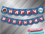 Large Happy Birthday Banners Big Hero Happy Birthday Banner Instant Download