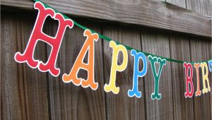 Large Happy Birthday Banners Happy Birthday Banner Large Letters Birthday Banner Colorful