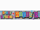 Large Happy Birthday Banners Happy Birthday Large Banner 2 6m X 19 5cm House Parti