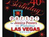 Las Vegas themed Birthday Cards Las Vegas 40th Birthday Party 5 25×5 25 Square Paper