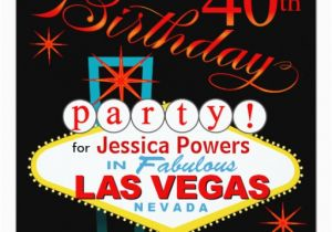 Las Vegas Themed Birthday Cards 40th Party 5 25x5 25 Square Paper