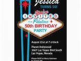 Las Vegas themed Birthday Cards Las Vegas 50th Birthday Party Invitation Zazzle