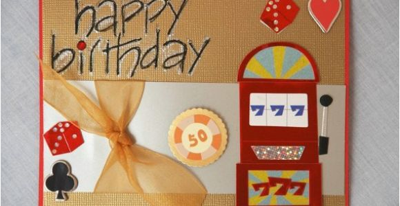 Las Vegas Themed Birthday Cards Card