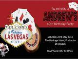 Las Vegas themed Birthday Cards Personalised Las Vegas Casino themed Invitation