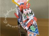 Las Vegas themed Birthday Cards Pop Up Vegas 40th Card4 Craftybabs Creative Crafts