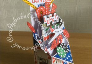 Las Vegas Themed Birthday Cards Pop Up 40th Card4 Craftybabs Creative Crafts