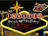 Las Vegas themed Birthday Cards Vegas themed Birthday Party Invitations Printable File