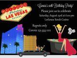 Las Vegas themed Birthday Invitations Adult Birthday Party Birthdays and Birthday Invitations