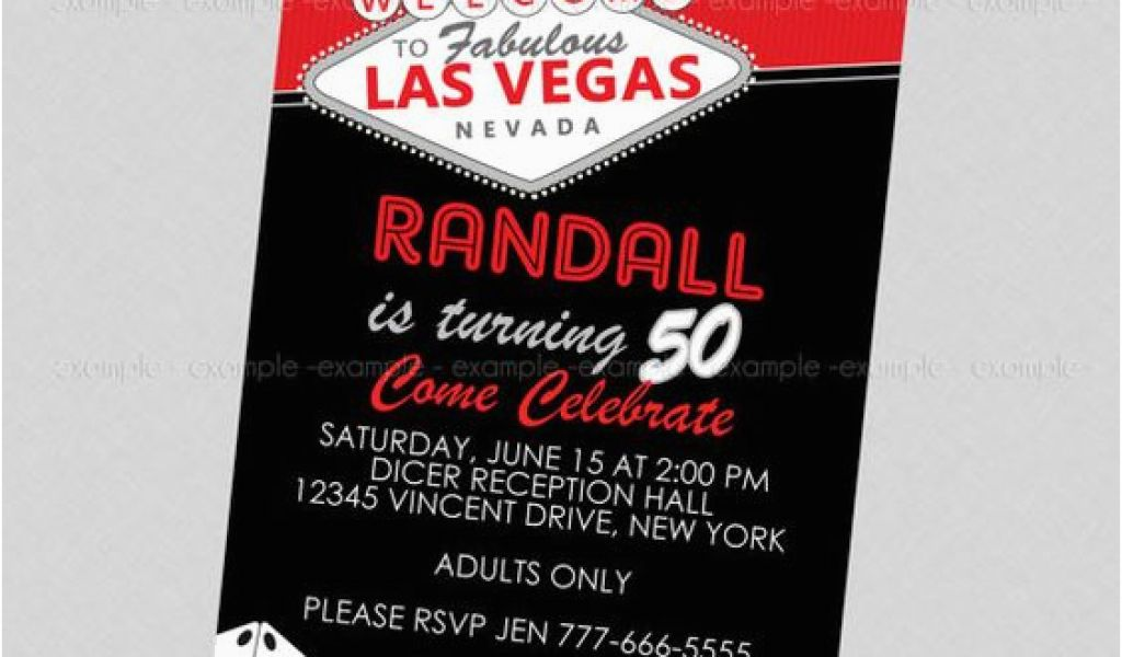 Download By SizeHandphone Tablet Desktop Original Size Back To Las Vegas Themed Birthday Invitations