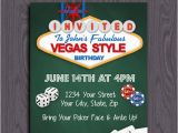 Las Vegas themed Birthday Invitations Blank Casino Party Invitation Template orderecigsjuice Info