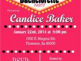 Las Vegas themed Birthday Invitations Casino theme Party Las Vegas Bachelorette Party Invitation