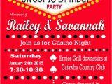 Las Vegas themed Birthday Invitations Casino theme Party Las Vegas Sweet 16 Party Invitation Retro