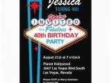 Las Vegas themed Birthday Invitations Las Vegas 40th Birthday Party Invitation 5 Quot X 7