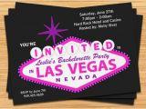 Las Vegas themed Birthday Invitations Las Vegas Bachelorette Party Invitation Wedding Invitation
